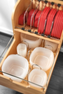 Storage for plastic containers