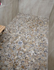 Rounded Pebble Shower Flooring