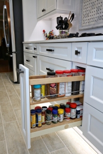 Rev-A-Shelf offers another spice storage solution in the form of a stacked storage drawer that takes up minimal kitchen space and holds a plethora of spice and seasoning containers.